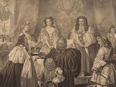 'The Crown Offered to William and Mary, 1689', 1886
