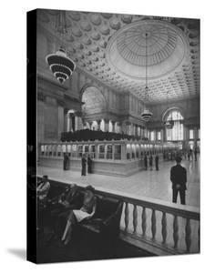 Bank Floor of National City Bank by Herbert Gehr
