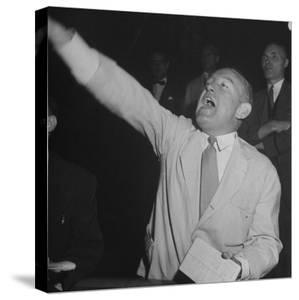Bernard J. Conlin Shouting on Floor of Stock Exchange by Herbert Gehr