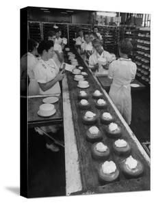 Cakes Being Frosted in A&P Plant by Herbert Gehr