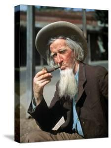 Old Gold Miner Hubert Brady, 68, Tells Tourists Tales of the Gold Rush Days, Columbia, California by Herbert Gehr