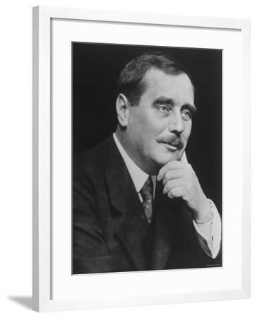 Herbert George Wells, English Novelist and Pioneer of Science Fiction--Framed Premium Photographic Print