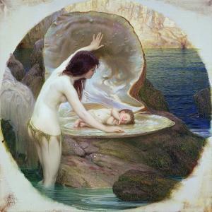 A Water Baby, C.1900 by Herbert James Draper