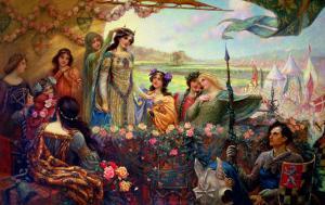 Lancelot and Guinevere by Herbert James Draper