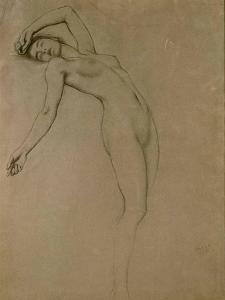 Study for 'Clyties of the Mist' (Chalk on Paper) by Herbert James Draper