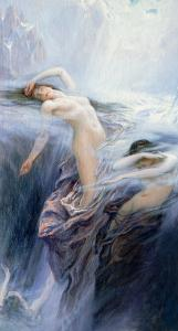 "Study for ""Clyties of the Mist"" by Herbert James Draper"
