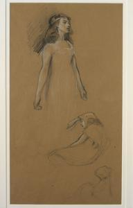 Study for Yseult for 'Tristram and Yseult' (Pencil on Paper) by Herbert James Draper