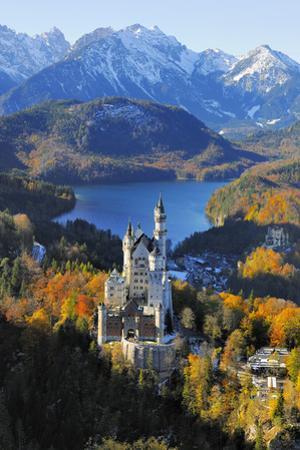 Germany, Bavaria, Allg?u, Neuschwanstein Castle by Herbert Kehrer