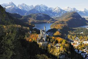 Germany, Bavaria, Allg?u, Neuschwanstein Castle by Herbert Kehrer