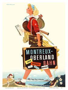 Montreux-Oberland Bahn - Switzerland - Bernese Oberland Railway by Herbert Leupin