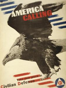 America Calling, Take Your Place in Civilian Defense, c.1941 by Herbert Matter