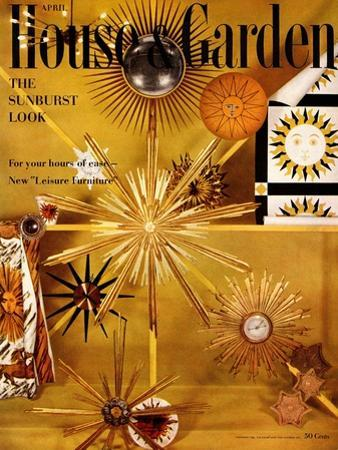 House & Garden Cover - April 1956 by Herbert Matter