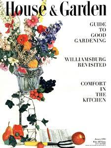 House & Garden Cover - January 1950 by Herbert Matter