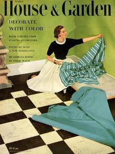 House & Garden Cover - March 1952 by Herbert Matter