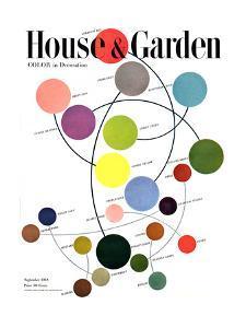 House & Garden Cover - September 1948 by Herbert Matter