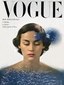 Vogue Cover - January 1948 by Herbert Matter