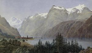 Lake Lucerne by Herbert Moxon Cook