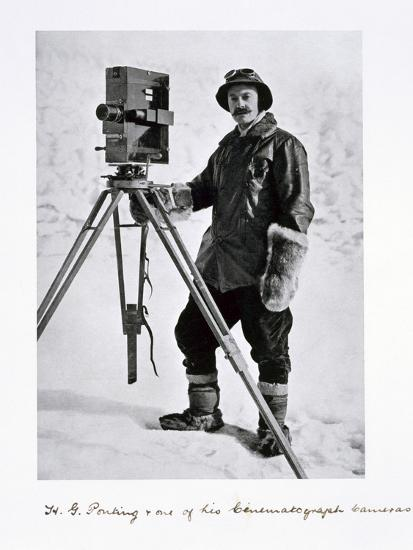 Herbert Ponting, British photographer, in the Antarctic, 1910-1912-Unknown-Photographic Print