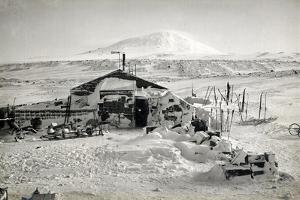 Hut and Mt. Erebus Photographed by Moonlight, 13th June 1911 by Herbert Ponting
