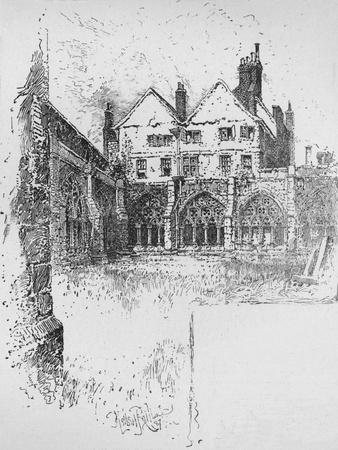 'The Cloisters, Westminster Abbey', 1890