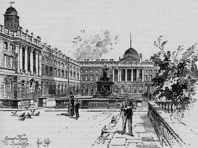 'The Quadrangle, Somerset House', c1890