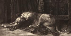 Irish Wolfhound by Herbert Thomas Dicksee
