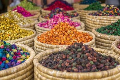 Herbs for Sale in a Stall in the Place Djemaa El Fna in the Medina of Marrakech, Morocco, Africa-Andrew Sproule-Photographic Print