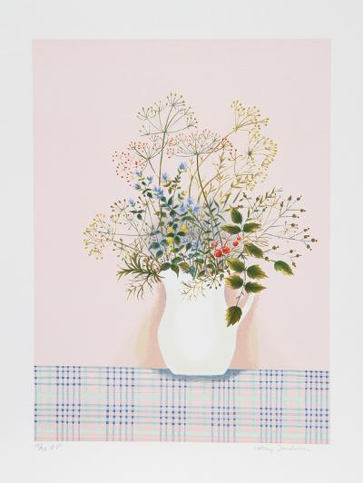 Herbs on Pink Background-Mary Faulconer-Limited Edition