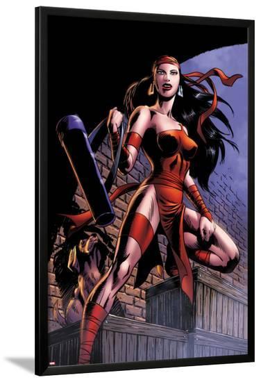 Herc No.8: Elektra Posing in an Alleyway-June Brigman-Lamina Framed Poster