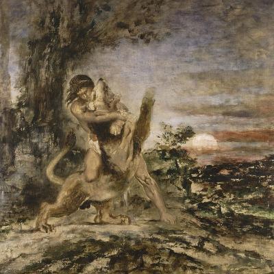 Hercule et le Lion de Némée-Gustave Moreau-Giclee Print