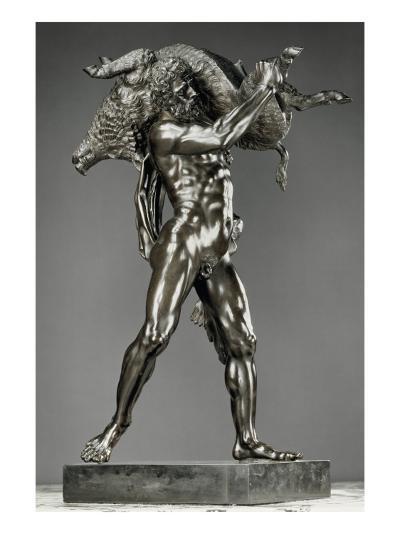 Hercule et le sanglier d'Erymanthe-Pietro Tacca-Giclee Print