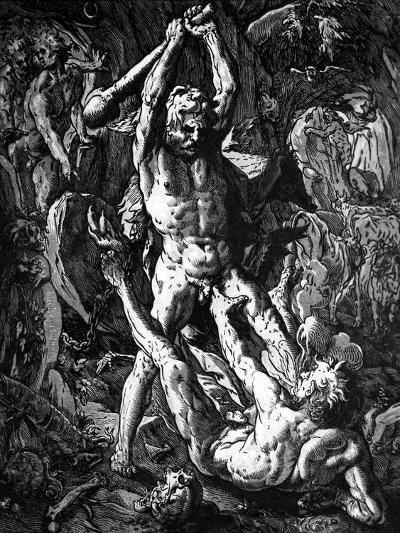 Hercules and Cacus, 1588-Hendrik Goltzius-Giclee Print