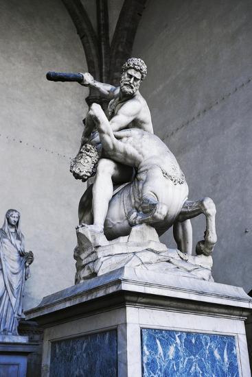 Hercules and Centaur Nessus, Marble Statue--Giclee Print