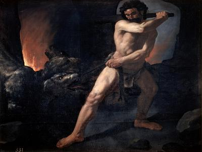 Hercules and Cerberus, C1634-Francisco de Zurbar?n-Giclee Print