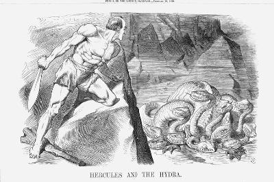 Hercules and the Hydra, 1870-Joseph Swain-Giclee Print
