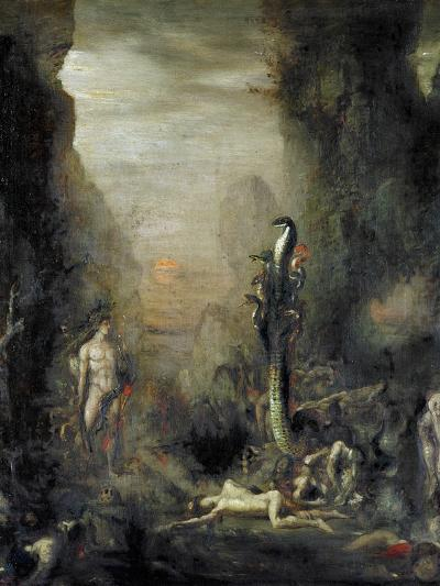 Hercules and the Lernaean Hydra, after Gustave Moreau, circa 1876-Narcisse Berchere-Giclee Print