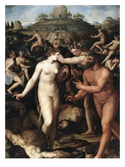 Hercules and the Muses-Alessandro Allori-Giclee Print