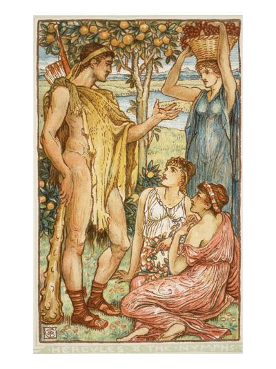 Hercules and the Nymphs-Walter Crane-Giclee Print