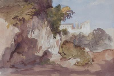 Landscape with Distant Buildings by Hercules Brabazon Brabazon