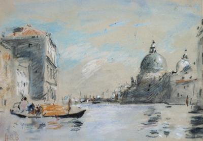 The Grand Canal and Church of Santa Maria Della Salute, Venice (Watercolour) by Hercules Brabazon Brabazon