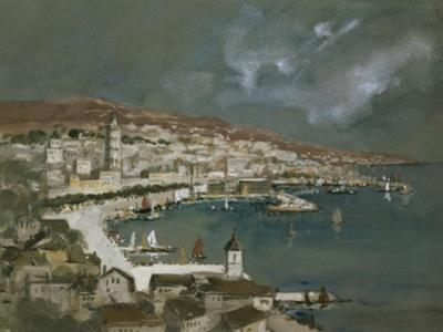 The Harbour of Split, Croatia by Hercules Brabazon Brabazon