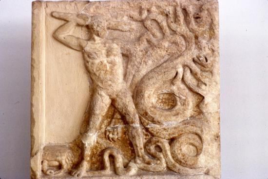 Hercules fights the Lernaean Hydra, Relic from Lerna, 3rd Century BC-Unknown-Giclee Print