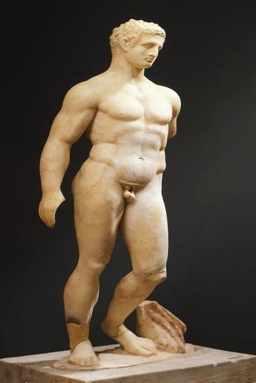 Hercules Statue from School of Lysippus, Sicily, Italy, Magna Graecia, 4th-3rd Century BC--Giclee Print