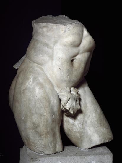 Hercules Torso in Marble--Giclee Print