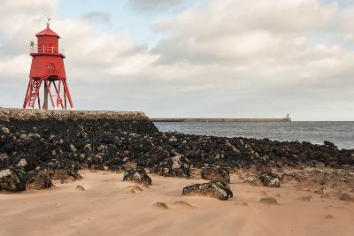 Herd Groyne Lighthouse in South Shields-Patrik Stedrak-Photographic Print