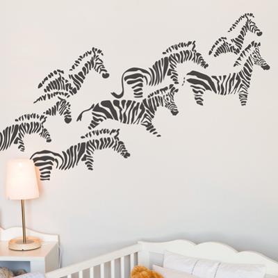 Herd of Zebras Wall Decal