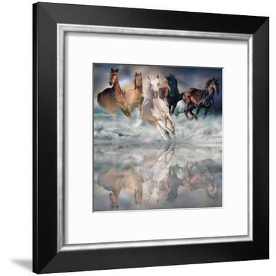 Herd Run-Svetlana-Framed Art Print