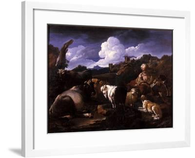 Herdsman with His Flock-Philipp Peter Roos-Framed Giclee Print