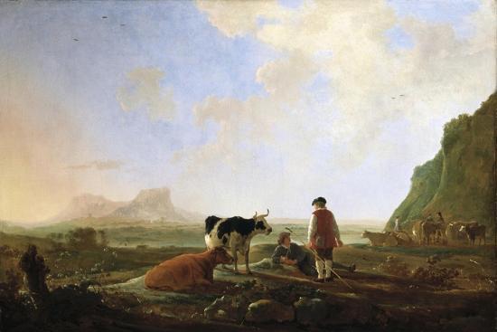 Herdsmen with Cows, C.1645-Aelbert Cuyp-Giclee Print
