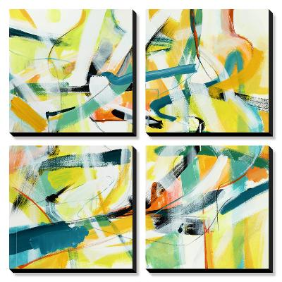Here and There 4-Akiko Hiromoto-Canvas Art Set